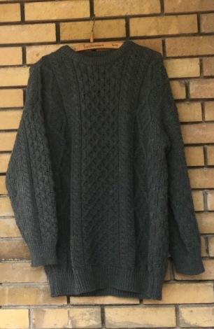 Irish Aran knit sweater