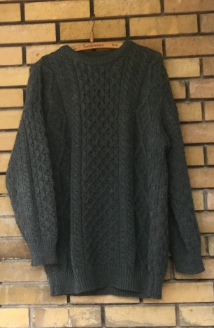 Irish Aran knit sweater