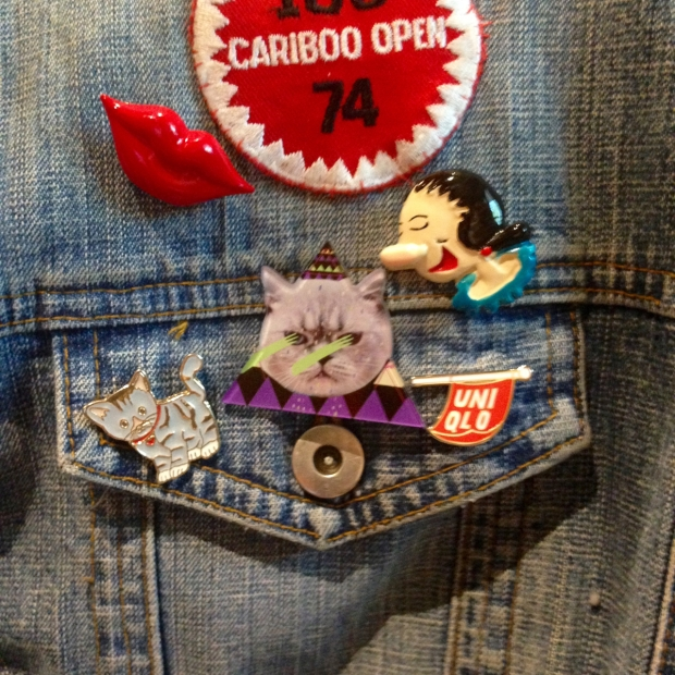 Jean jacket and pins