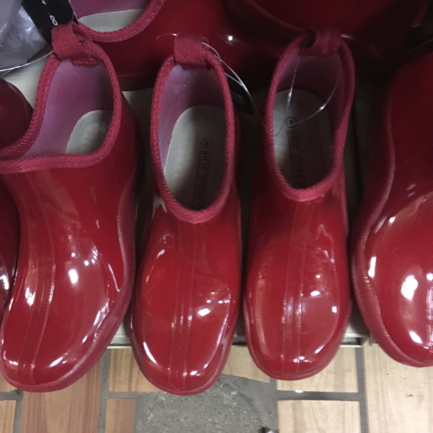 blog red rubber rain boots