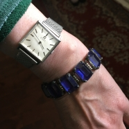 blog St. Lawrence haul retro blue rhinestone bracelet