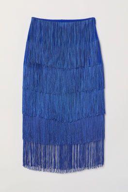 H&M fringed skirt