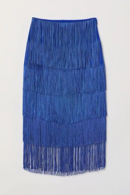 H&M fringed skirt