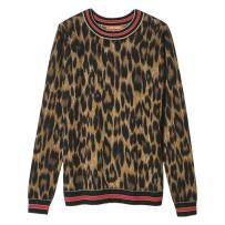 joe-fresh-dark-brown-stripe-leopard-print-sweater